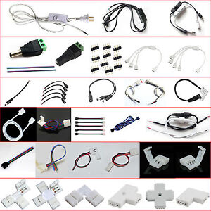 LED-Strip-Light-Wire-Connector-Adapter-Cable-Clip-PCB-3528-5050-5630-RGB-6-W