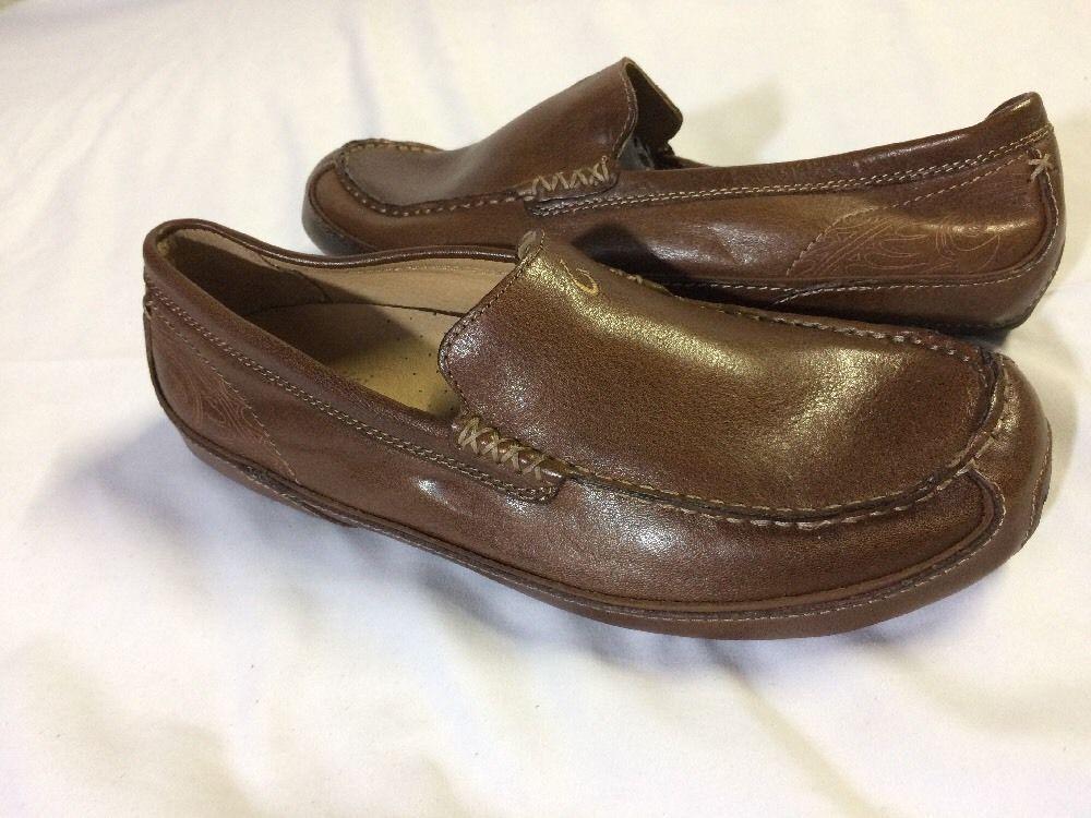 Men's Olukai Lokahi Leather Driving shoes Size 8 Brown