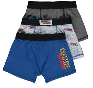 Boys Boxers Hipsters Sonic the Hedgehog Trunks 3 Pack Underwear