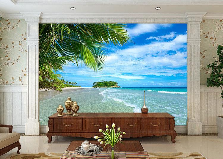 Beach Vacation Paradise Full Wall Mural Photo Wallpaper Print Kids Home 3D Decal