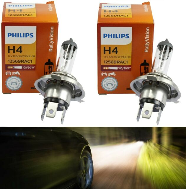 Philips Rally Vision 9003 HB2 H4 100/90W Two Bulbs Head Light Off Road Dual Beam