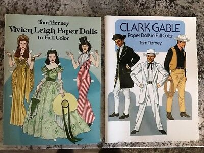 Gone With The Wind Vintage Paper Doll Book Vivien Leigh By Tom Tierney Uncut