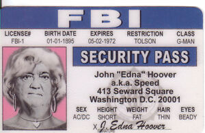 Drivers License J Dc Hoover Edgar Washington Collector