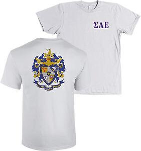 Sigma Alpha Epsilon Fraternity Crest Bella+Canvas Long Sleeve Shirt SAE NEW