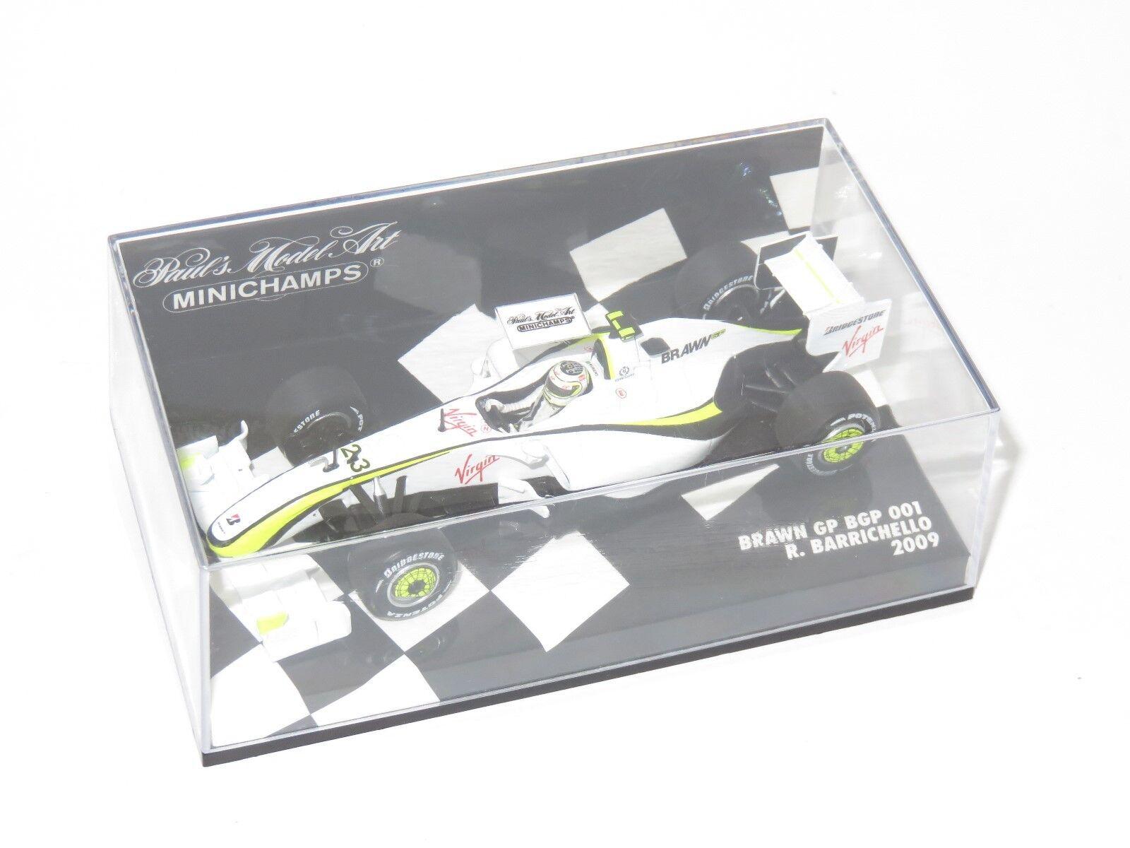 Faites plaisir à vos clients 1/43 BRAWN GP BGP001 saison 2009 R. Barrichello | Service Supremacy  | Techniques Modernes