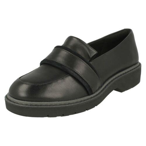antideslizante Alexa Clarks mujer en Calzado para holgazanes con inspirados Black Ruby zapatos dw1fOq