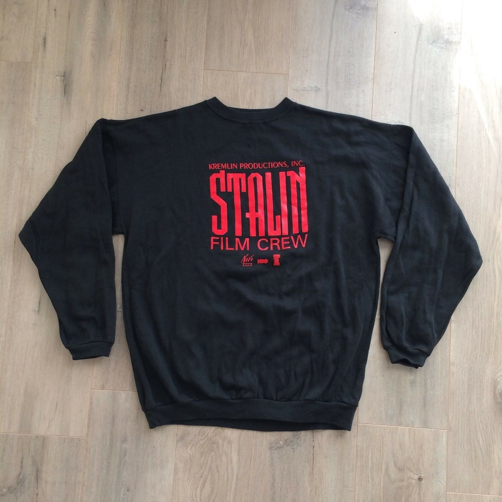 RARE 90s 1991 Vintage Sweatshirt STALIN Movie Film Crew HBO Moscow Men XL/2XL