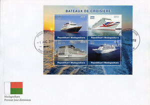Madagascar 2018 FDC Cruise Ships 4v M/S Cover Boats Nautical Stamps