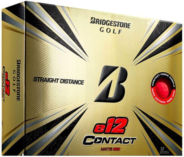 Bridgestone e12 Contact Golf Balls 1 Dozen -  Matte Red