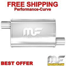 """MAGNAFLOW 14336 UNIVERSAL 4/"""" x 9/"""" Oval Stainless Muffler Mirrored 2.5/"""" In//Out"""
