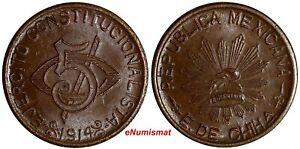 Mexico-Revolutionary-CHIHUAHUA-Copper-1914-5-Centavos-KM-613