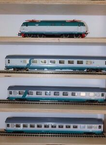 Actif Roco Intercity Set 3 Voitures Xmpr Fs Trenitalia Avec Locomotive E444r