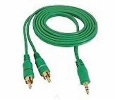 Jack a 2 X RCA Audio Cable de teléfono Oro Plomo 3m 3.5mm Altavoz Subwoofer