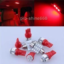 6PCS Red LED lights interior package kit for Ford Ranger 1998-2011