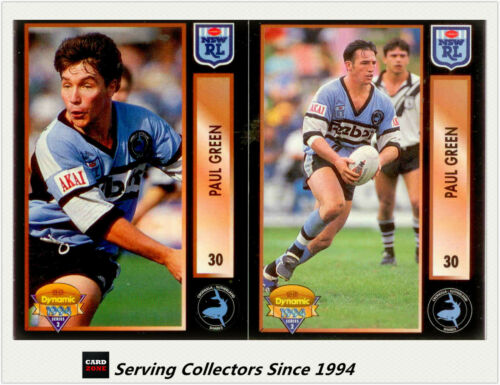 RARE-1994 Dynamic Rugby League Series 2 Series Paul Green CORRECTION CARD