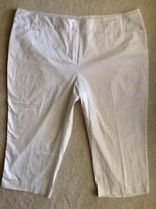 8529c4aaada Lane Bryant Pants Womens Plus Size 28 Smooth Sateen Twill Capri ...