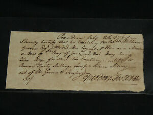 US-Revolutionary-War-1st-RI-Senator-Theodore-Foster-Signed-Check-1781-Wm-Green