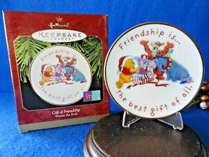 Hallmark DISNEY Ornament Winnie the Pooh 1997 Gift of Friendship Porcelain