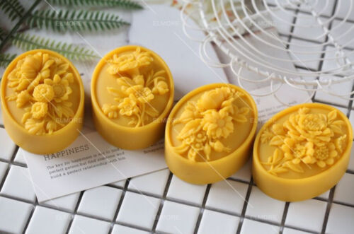 Oval Flower Mold Silicone Soap Molds for DIY Craft Handmade Soap Wax Resin
