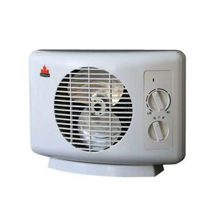 fan space heater small portable electric blow room bedroom home office