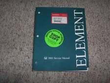 2003 Honda Element Factory OEM Shop Service Repair Manual DX EX 2.4L 4-Cylinder
