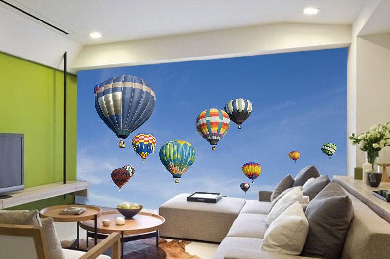 Hot Air Balloon Festival Full Wall Mural Photo Wallpaper Print Home 3D Decal
