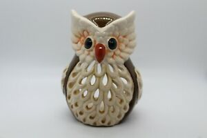 Large-brown-Ceramic-Owl-Candle-holder-home-decor