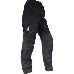 RICHA-Everest-DONNA-PANTALONI-IMPERMEABILI-Motocicletta-Motociclo-Nero