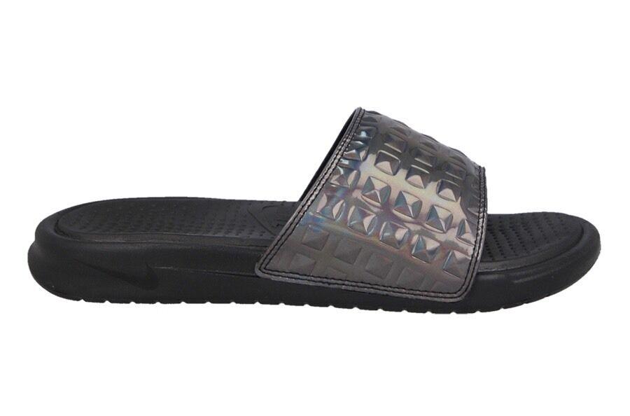 Para mujer Nike Benassi Jdi Ultra Premium Negro Uk Talla 2.5 818737-003