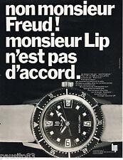 PUBLICITE ADVERTISING 055  1968  LIP  montre NAUTIC- LADY