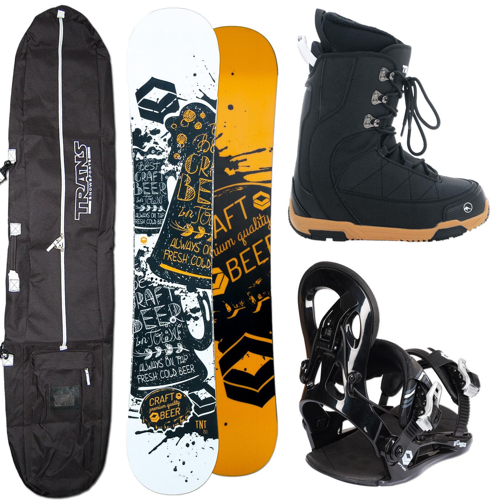 Men's Snowboard Ftwo Tnt orange 143 cm + Fastec Binding SIZE M + Boots+ Bag