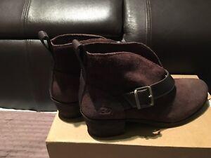 en cinturón Botines Nuevo oscuro marrón con Wright talla de de ante 6 Ugg ZHqPRwqY