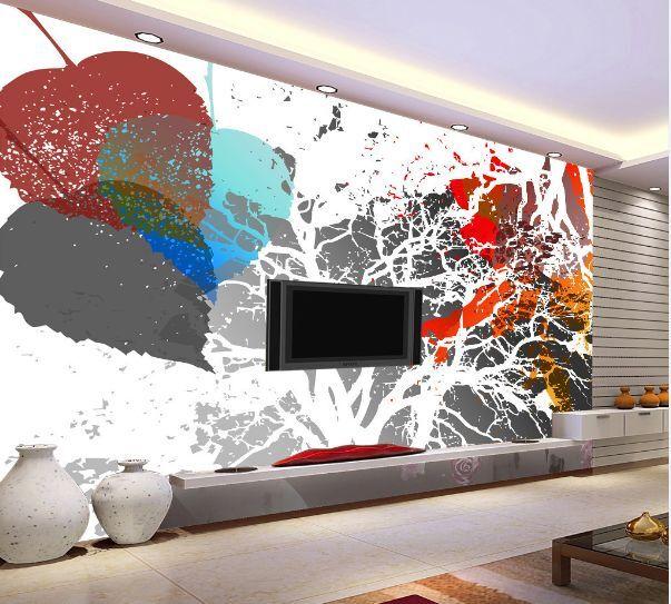 3D foglia 344 Parete Murale Foto Carta da parati immagine sfondo muro stampa