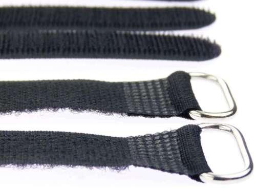 30 x Klett Kabelbinder 300 x 20 mm schwarz Kabelklettband Kabelklett Verschluss