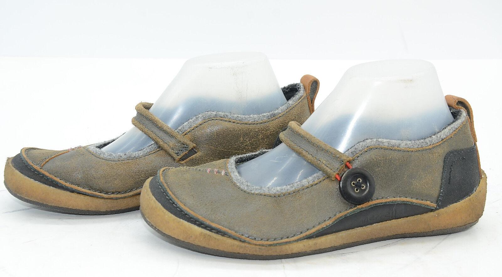 Merrell Paris Hemp Womens Sz 8.5 Mary Janes Comfort Leather Hiking Trail shoes