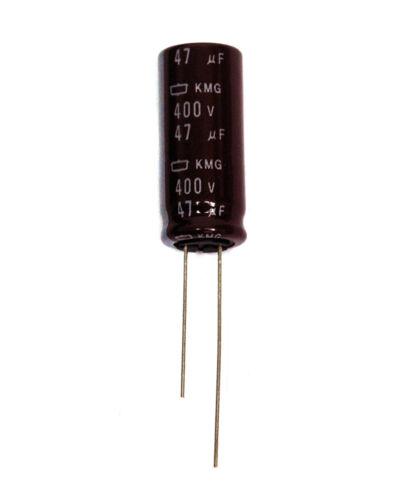 10pc Electrolytic Capacitor KMG 47uF 400V 105℃ Radial Nippon Chemi-Con 12.5x30