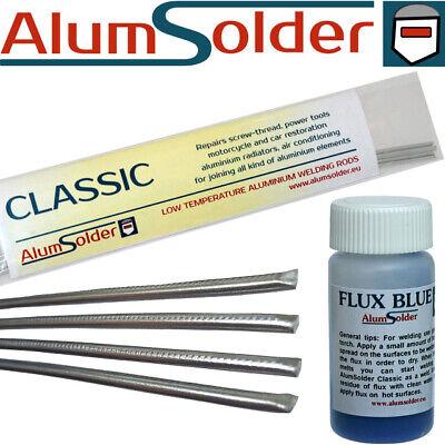 AlumSolder Flux Blue Active flux for low temperature aluminium welding rods