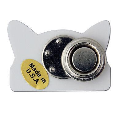 StockPins Pink Cat Ear Hat Shaped Lapel Pin Small Nasty