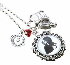Disney's Beauty And the Beast Multi Charm Pendant NECKLACE