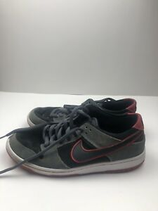 hot sale online 7edeb d4a48 Details about Mens 8 Nike Sb Dunk Low Pro High Ishod Wair Black Red Grey  Shoe 895969 006