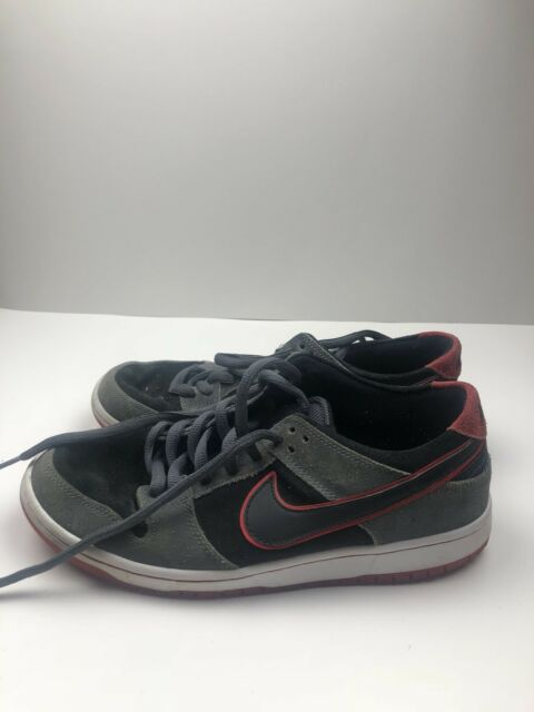 17400a42c922 Mens 8 Nike Sb Dunk Low Pro High Ishod Wair Black Red Grey Shoe 895969 006