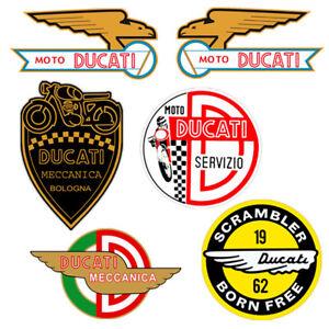 Adesivi-Ducati-Meccanica-sticker-vintage-Decal-auto-moto-helmet-print-pvc-6-pz