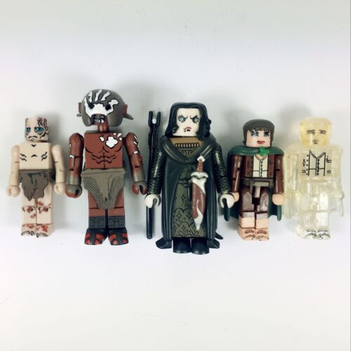 5pcs Lord of the Rings Minimate Frodo Gollum Uruk-Hai Grima Wormtongue Boy Toys