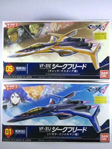 Bandai Mecha Collection 01 /& 05 Macross delta VF-31 J /& E Siegfried Mode Set