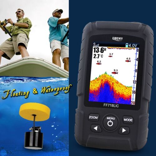 Wired Fishfinder FischFinder Alarm Sensor Echolot Sonar Wireless Lucky