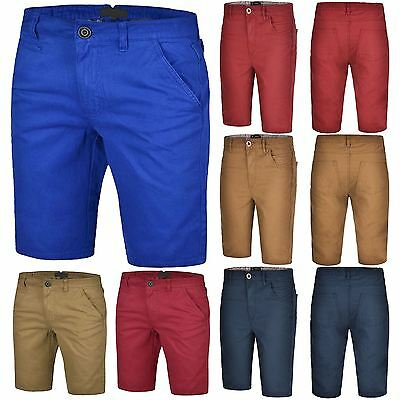 MENS CHINO SHORTS CASUAL SUMMER LONG KNEE LENGTH POCKET SHORT PANTS COMBAT 30-38