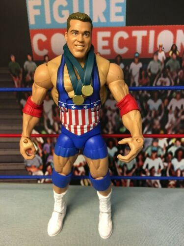 WWE Wrestling Mattel Elite Entrance Greats Exclusive Flashback Kurt Angle Figure