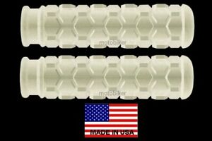 """MINI-BIKE RUPP MOTORCYCLE 7/8"""" FOOT PEG COVERS WHITE HEX STYLE 4 1/2"""" DEPTH USA"""