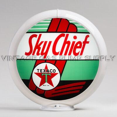 "Texaco Sky Chief 13.5/"" Gas Pump Globe w// Red Plastic Body G196"