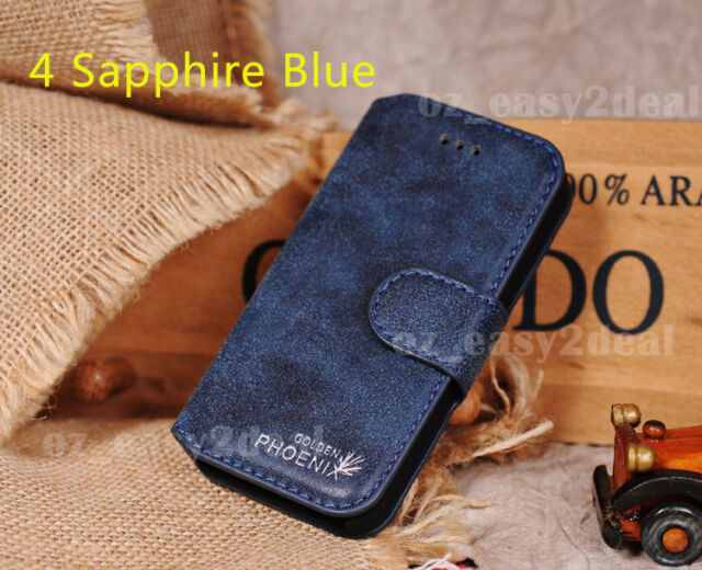 New Leather Stand Case Cover Flip Wallet For Samsung Galaxy S4 S5 S6 Note2 3 4